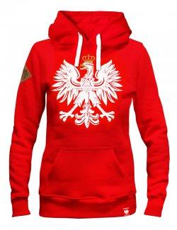 Bluza damska czerwona - Orzeł