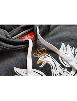 Bluza męska Orzeł - grafitowa z kapturem