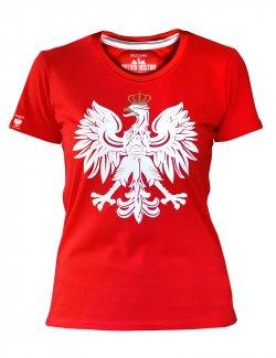 Koszulka Damska Orzeł - Czerwona
