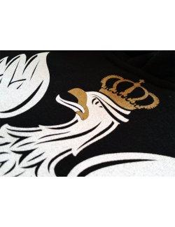 Bluza męska Orzeł - czarna z kapturem