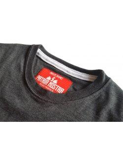 Koszulka męska Szachownica haft - grafitowa