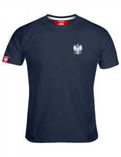 Koszulka męska Haft Orzeł - Jeans