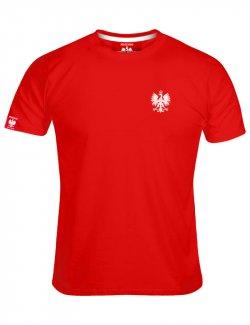 Koszulka męska Haft Orzeł - Czerwona