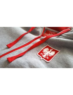 Bluza damska Herb Polski haft - szara