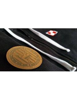 Bluza damska Szachownica haft - czarna