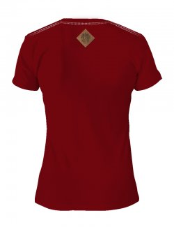 Koszulka damska Haft Orzeł - Bordowa