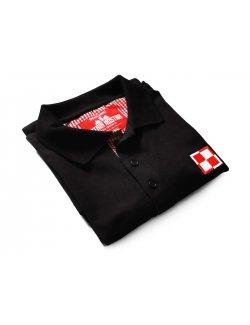 Polo czarne - Szachownica lotnicza