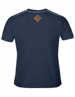 Koszulka męska Szachownica haft - jeans