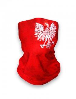 Komin / chusta na szyję - Orzeł - czerwona