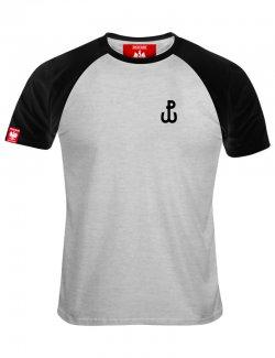 Koszulka męska haft Polska Walcząca - szara