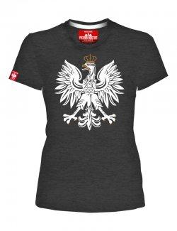 Koszulka damska Orzeł - grafitowa