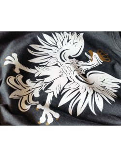 Koszulka męska Orzeł - grafitowa