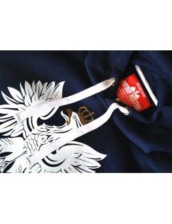 Bluza męska Orzeł - granatowa z kapturem