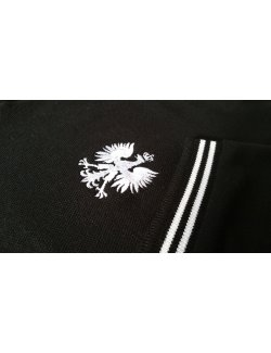 Polo czarne - haft orzeł