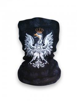 Komin / chusta na szyję - Orzeł - czarna