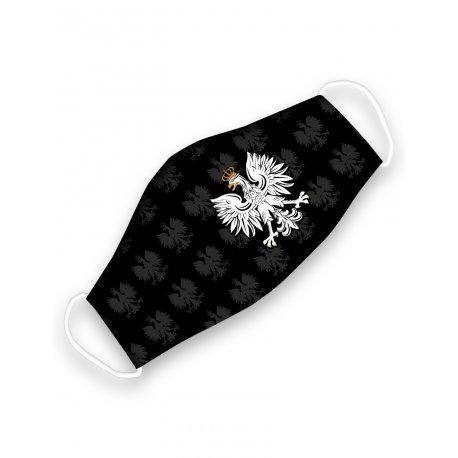 Maseczka Orzeł - czarna