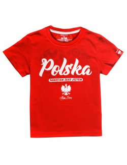 Koszulka dziecięca Polska - pamiętam skąd jestem