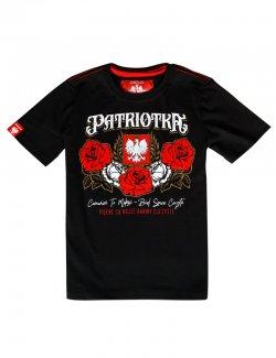 Koszulka dziecięca Patriotka - czarna