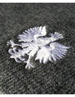 Czapka zimowa Orzeł Biały - grafitowa