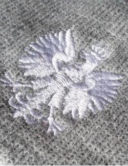 Czapka zimowa Orzeł Biały - szara