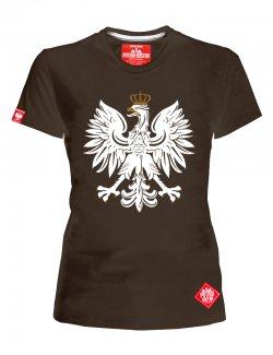 Koszulka Damska Orzeł - Brązowa