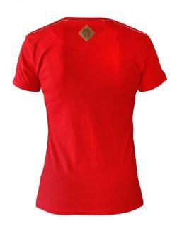 Koszulka damska Polska - pamiętam skąd jestem - Czerwona
